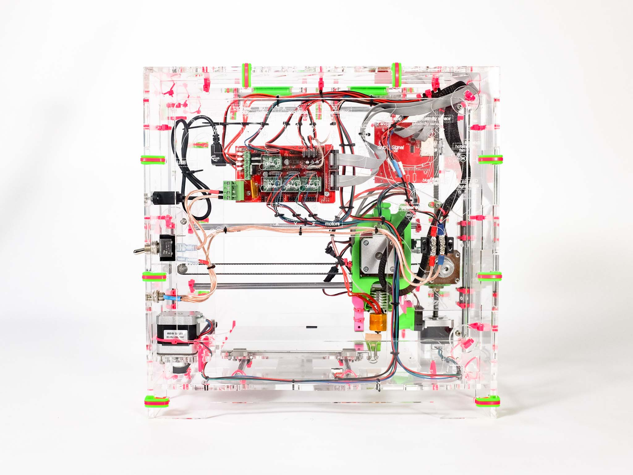 Imade3d Jellybox 3d Printer Educational Experiences In Technology Building Electric Wiring Diagram Clear Acrylic Construction To Expose The Inner Workings Its Ultimate Anti Black Box Also Did We Mention Have Best Wire Management Town