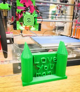Student created project using Tinkercad, Christmas gift to mom