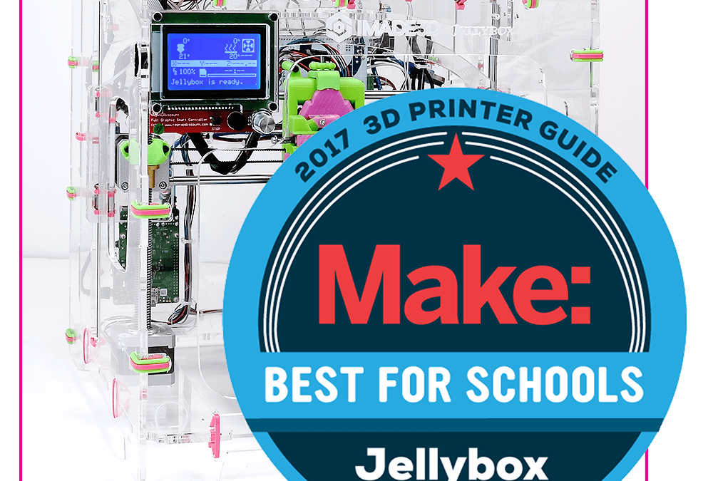 JellyBOX Crowned Best for Schools from Makezine for 2017